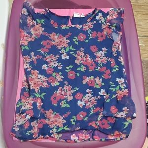 Children's Place Floral Blouse L (10-12)
